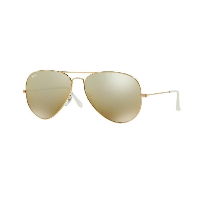 Lunettes de soleil Ray-Ban Homme AVIATOR LARGE METAL RB3025 001 3K Or 58 x  50,1 c7a6cffdbf5b