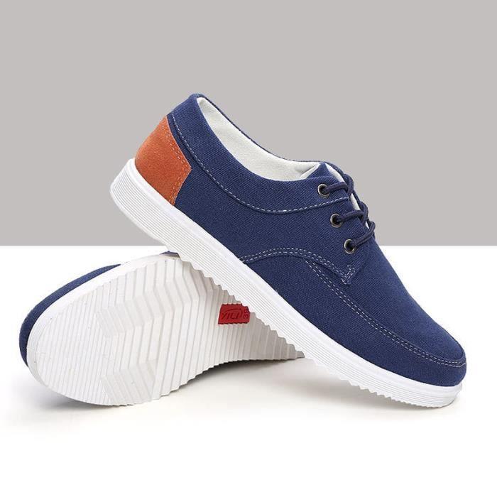 Chaussures En Toile Hommes Basses Quatre Saisons Populaire BBDG-XZ112Bleu40 lFu6y