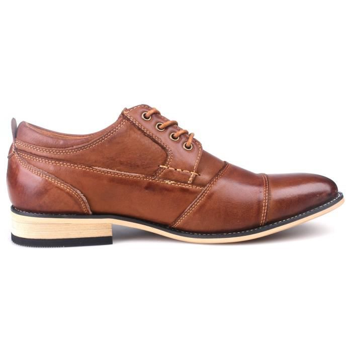 Leather Cap Toe Oxford Shoes G6X3J Taille-44 1-2