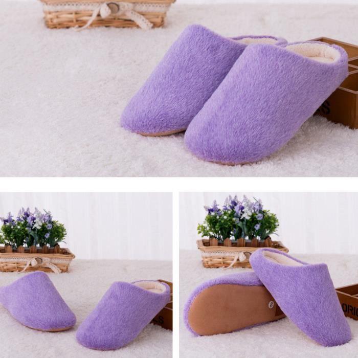 violet Femmes Chaude De Et Chaussures Couleurs Douce Antidérapants Accueil Bonbons Coton Intérieur Chaussons x7q7Tw