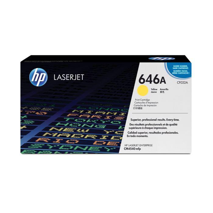 HP - 1 Cartouche de Toner CF032A Colour LaserJet Original - 11 000 pages- Jaune