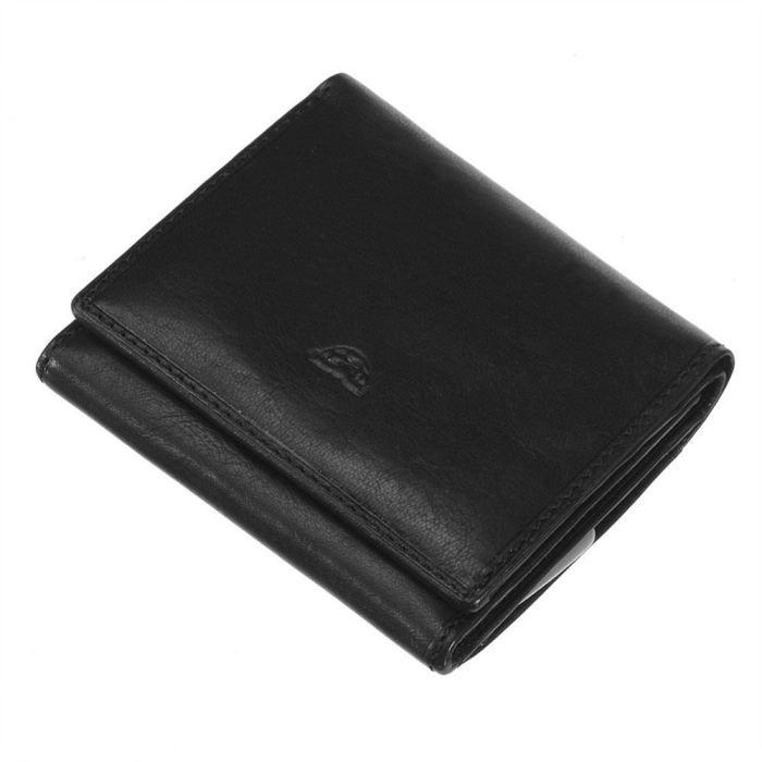 TONY PEROTTI Portemonnaie Cuir Lisse 10 cm Noir Homme