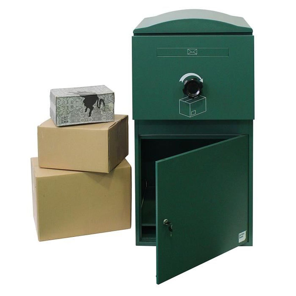 bo te aux lettres sp cial colis 52x39x32 verte achat. Black Bedroom Furniture Sets. Home Design Ideas
