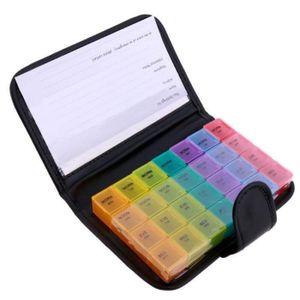 PILULIER 7 couleur 28 grille portable grande capacité en cu