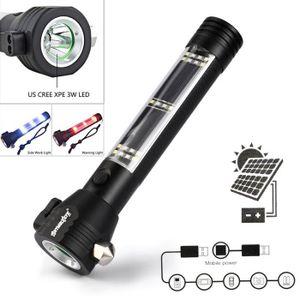 LAMPE DE POCHE Énergie solaire de sécurité lampe de poche LED 3W