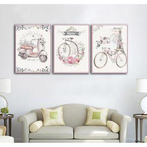 objet dcoration murale 3 chambre de fille de panneau rose peintures dcor
