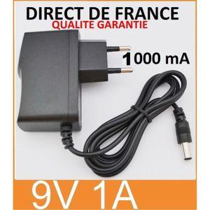 CÂBLE D'ALIMENTATION Adaptateur Secteur Alimentation Chargeur DC 9V 1A