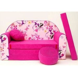 Canape Enfant Rose Achat Vente Pas Cher - Canapé 3 places pour objet deco chambre bebe