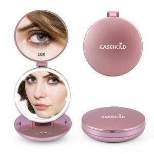 MIROIR DE POCHE  Miroir cosmétique 1X / 10X se pliant le miroir ten