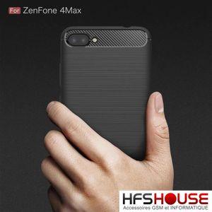 COQUE - BUMPER Asus Zenfone 4 Max ZC520KL Carbone Noir Coque Hous