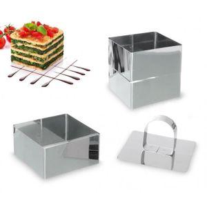 EMPORTE-PIÈCE  702239 Set de 3 emporte-pièces carrés en acier 8 c