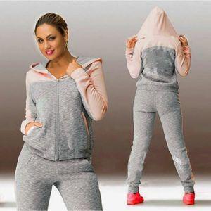 SURVÊTEMENT Femmes sport deux pièces set sweat à capuche costu