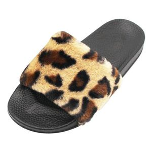 check out 2497f 11e5c SLIP-ON Femmes Mesdames Sliders Leopard Fluffy fausse four