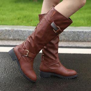 BOTTE seasondu Femmes Chaussures pour femmes Rivet équit