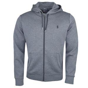 07cb5c8f2d7e Veste zippée Ralph Lauren grise pour homme - Couleur  Gris - Taille  S