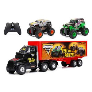VOITURE - CAMION NEW BRIGHT Camion Transporteur MONSTER JAM Voiture