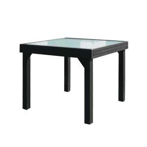 TABLE À MANGER SEULE Table de repas carrée extensible Verre/Aluminium G