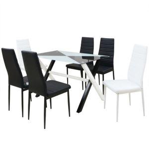 TABLE DE CUISINE VidaXL Ensemble Table Et Chaises De Salle Manger
