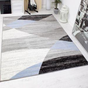 tapis gris et bleu achat vente tapis gris et bleu pas cher cdiscount. Black Bedroom Furniture Sets. Home Design Ideas