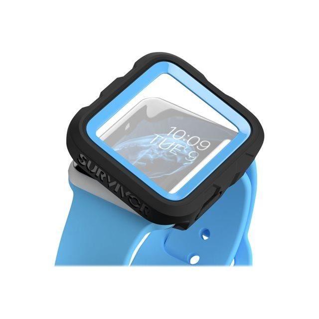 GRIFFIN Survivor Tactical Protection d'écran pour montre connectée - Compatible Apple Watch (38mm) - Bleu