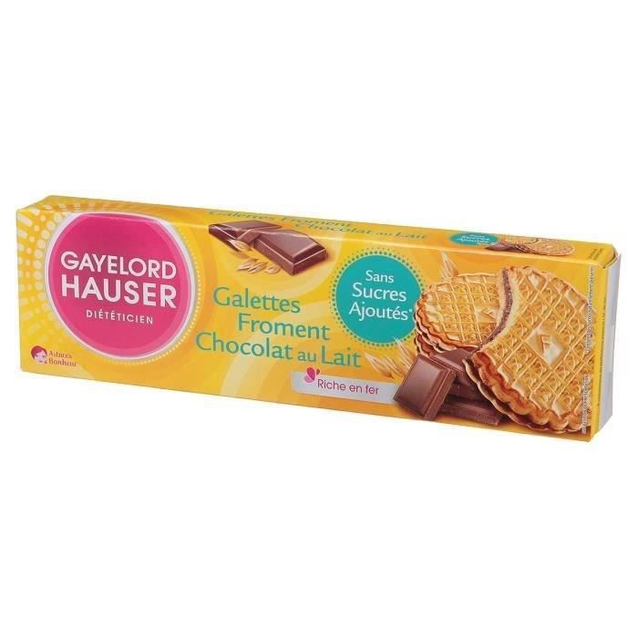 GAYELORD HAUSER Galettes Froment Chocolat au Lait - 120 g