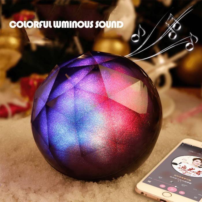 Magie Glitter Boule Portable Led Sans Fil Bluetooth Lumière Audio Haut-parleur Compact @pa2136