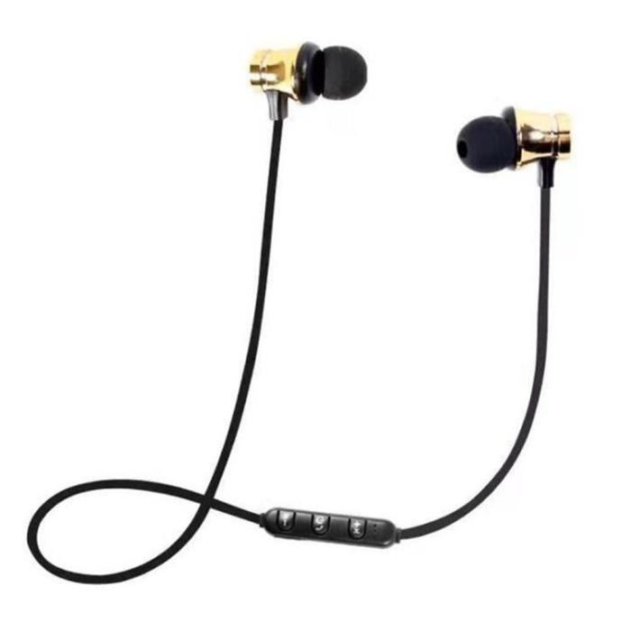 Sans Fil Bluetooth Earpbuds Écouteurs 4.2 Mode Magnétique Réduction Du Bruit Sport -or