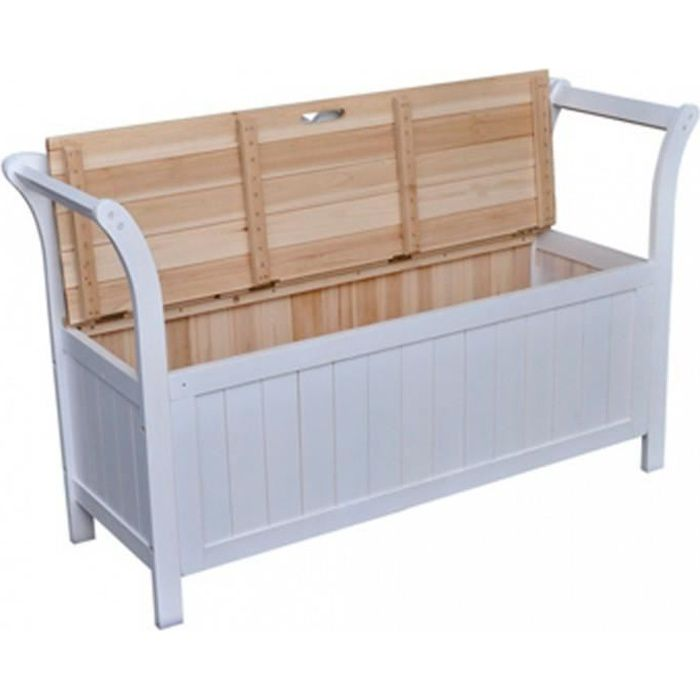 coffre banc en bois achat vente pas cher. Black Bedroom Furniture Sets. Home Design Ideas