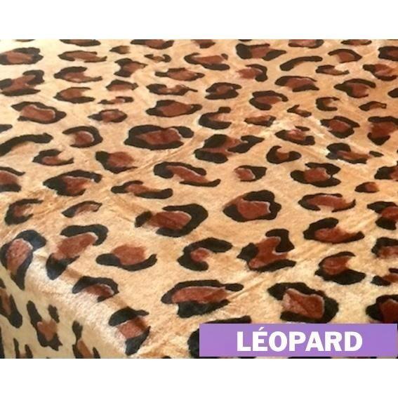 plaid fourrure leopard couvre lit xl fausse fourrure vison jet de lit taille 220x240cm. Black Bedroom Furniture Sets. Home Design Ideas