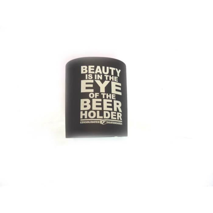 Beer Holder CONSOLIDATED Beauty in th Eye Black aille unique Noir