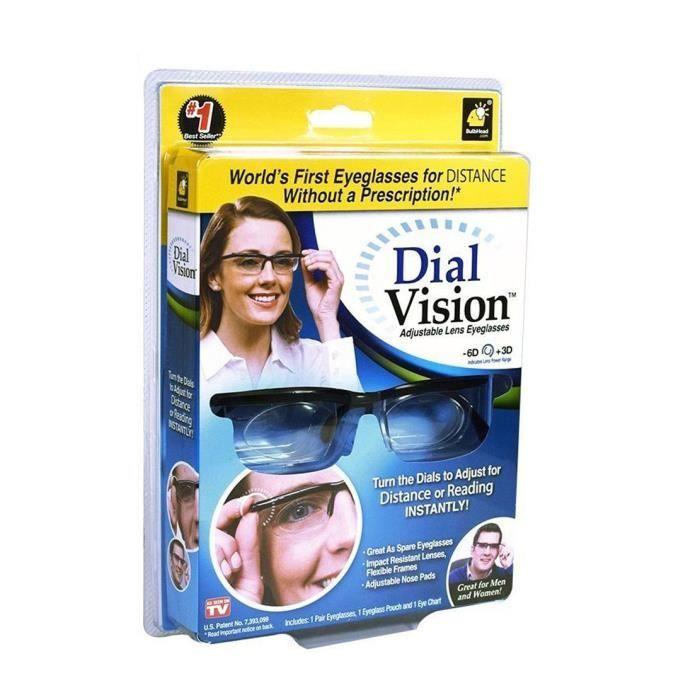 Dial Vision Lunettes pour lire Ajustable Lunettes Loupes Pour hommes Femmes 7c3eae6af00e