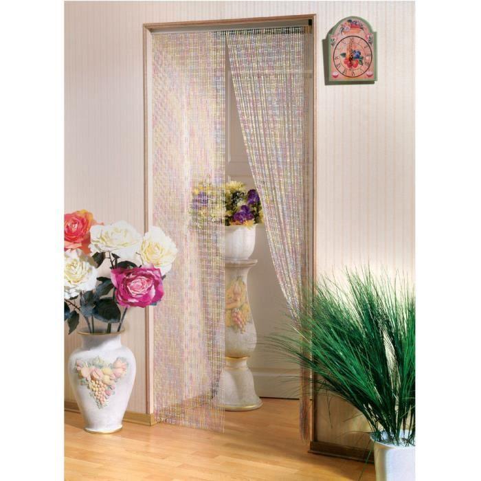 Rideau de porte perle cristal clara morel 90x220cm achat vente rideau de porte cristal - Rideau de porte en perles ...