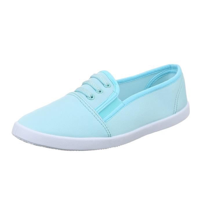 femme chaussure chaussures décontractées Sneakers babouche 04HaD3Gl