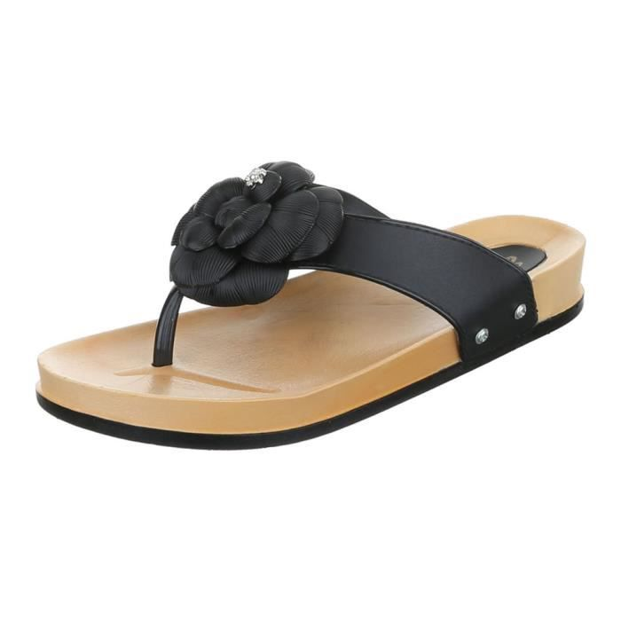 l'orteil chaussure femme plage séparernoir de chaussures chaussures sandale d'été 7qa40q