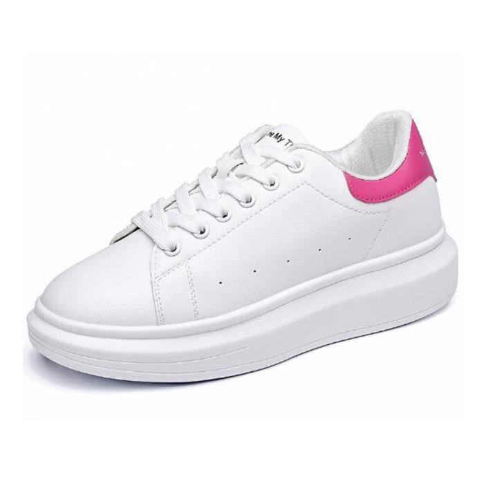 Chaussures cuir Mode Chaussure Femme Basket Femme Skate Shoes Blanc,rose