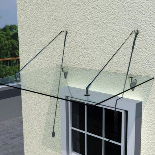 auvent 150x90 cm en verre de s curit achat vente marquise auvent auvent 150x90 cm en. Black Bedroom Furniture Sets. Home Design Ideas