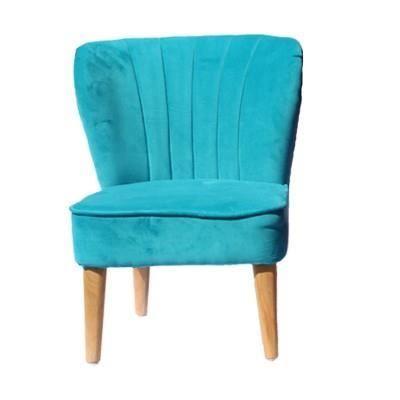 fauteuil enfant vintage velours bleu turquoise achat. Black Bedroom Furniture Sets. Home Design Ideas