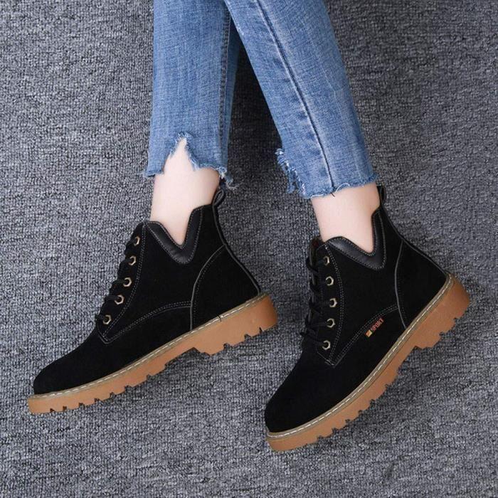 Martin Chaussures homme Martin Mode Plates boots Hiver bottines Fourrées Cuir Femme Nouveau Bottes Botte 8TO0ww