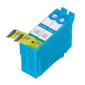 CARTOUCHE IMPRIMANTE 2 Cyan Compatible Encre Cartouches Pour Epson T347