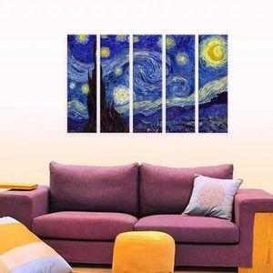 TABLEAU - TOILE Starry Night Vincent Van Gogh IMPRIMER Sur CANVAS