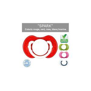 SUCETTE Tétine 0 à 6 mois rose et coeur prénom - Choisisse