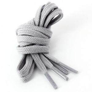 LACET  lacets plats coton couleur Cendre: Taille: 120cm G