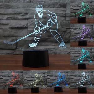 LAMPE A POSER Nouveauté Éclairage Hockey Glace Lecteur 3D LED Nu