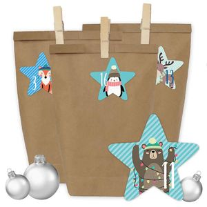 Calendrier de l'avent Calendrier de l'Avent bricolage - 24 sacs-cadeaux