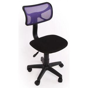 CHAISE Chaise de bureau jeunesse Coloris violet, Dim: H74