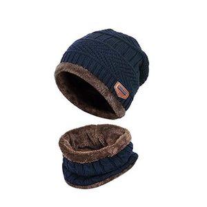 GPS PEDESTRE RANDONNEE  Enfants hiver pais bonnet charpe ensemble Slouchy