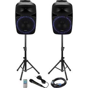 ENCEINTE ET RETOUR IBIZA SOUND PKG12A-SET Système de sonorisation - 2