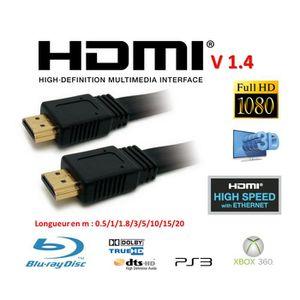 CÂBLE TV - VIDÉO - SON Cable HDMI 1.4V 50cm blanc