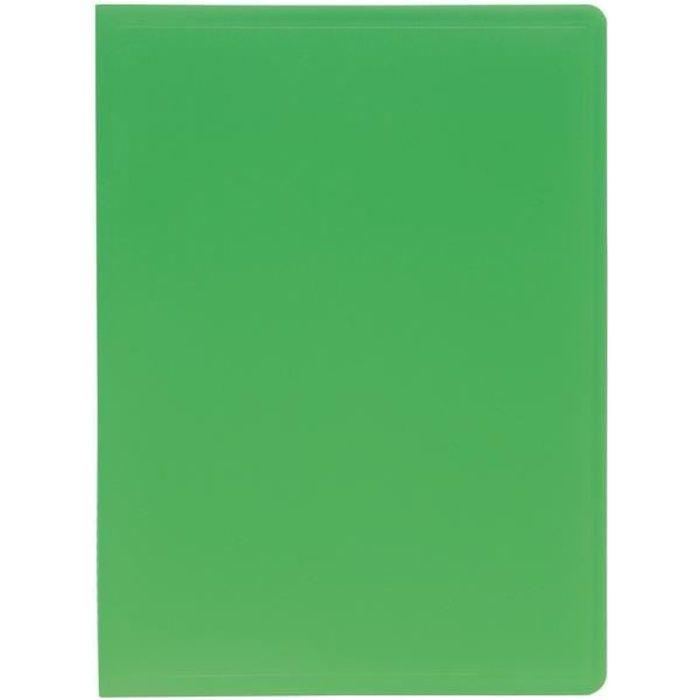 EXACOMPTA Protège document Soudé 210 x 297 60 Vues Pochettes Grainées - Polypropylène - Vert