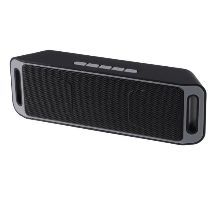 Mini Haut-parleur Portable Sans Fil Bluetooth 4.0 Subwoofer Lecteur Flash Usb Radio Fm Stéréo Mp3 (gris)